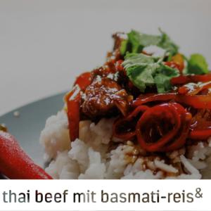 Thai Beef mit Basmati-Reis malcolm & judy