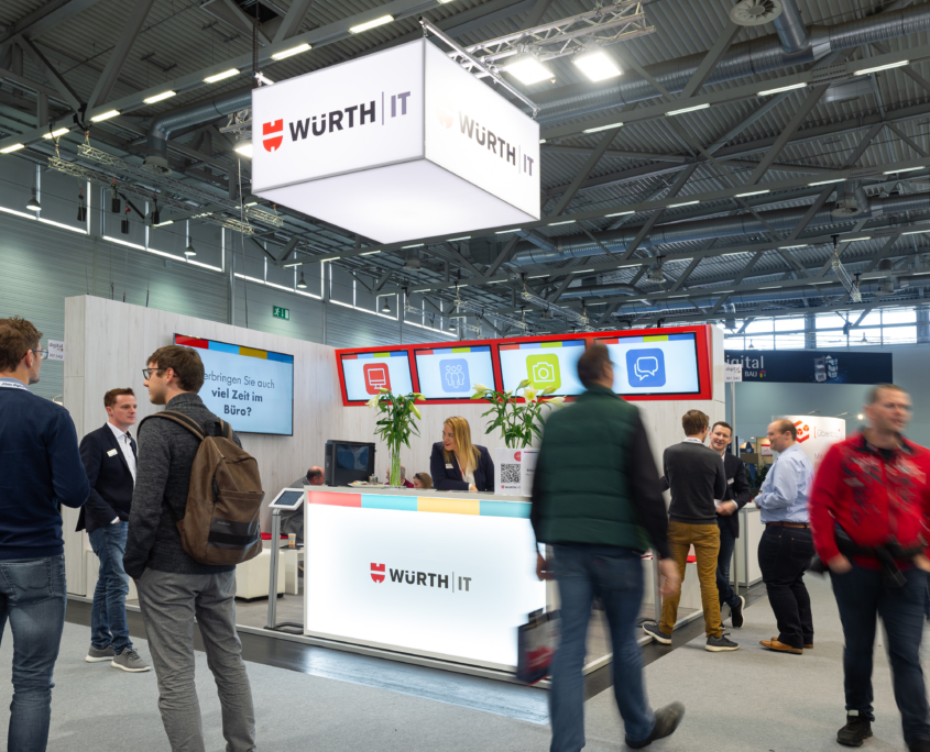 Übersicht Messestand WÜRTH IT